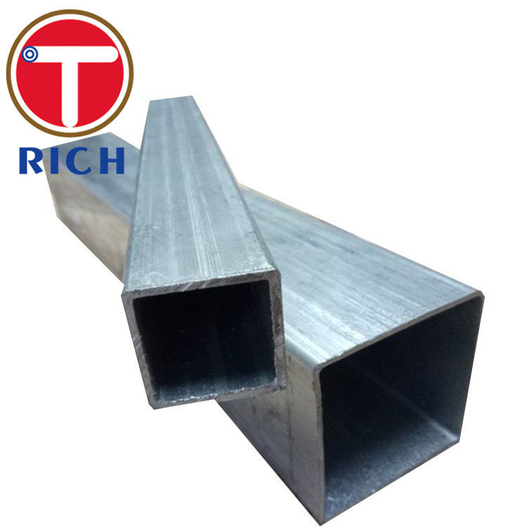 Black Hollow Section Welded Steel Pipe Rectangular Cold Rolled